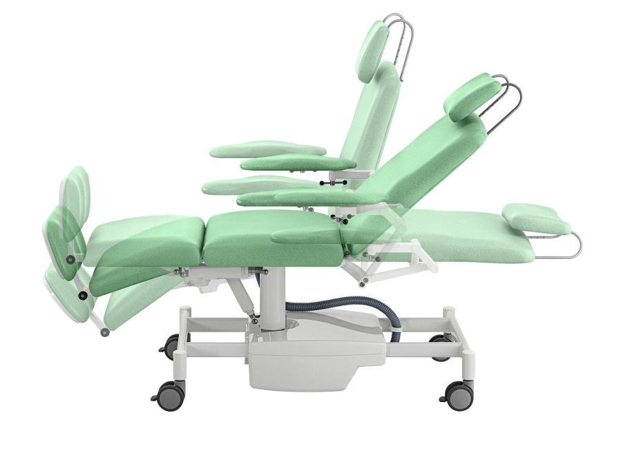 Medical examination chair / electrical / Trendelenburg / on casters FK-04 Famed ?ywiec sp. z o.o.