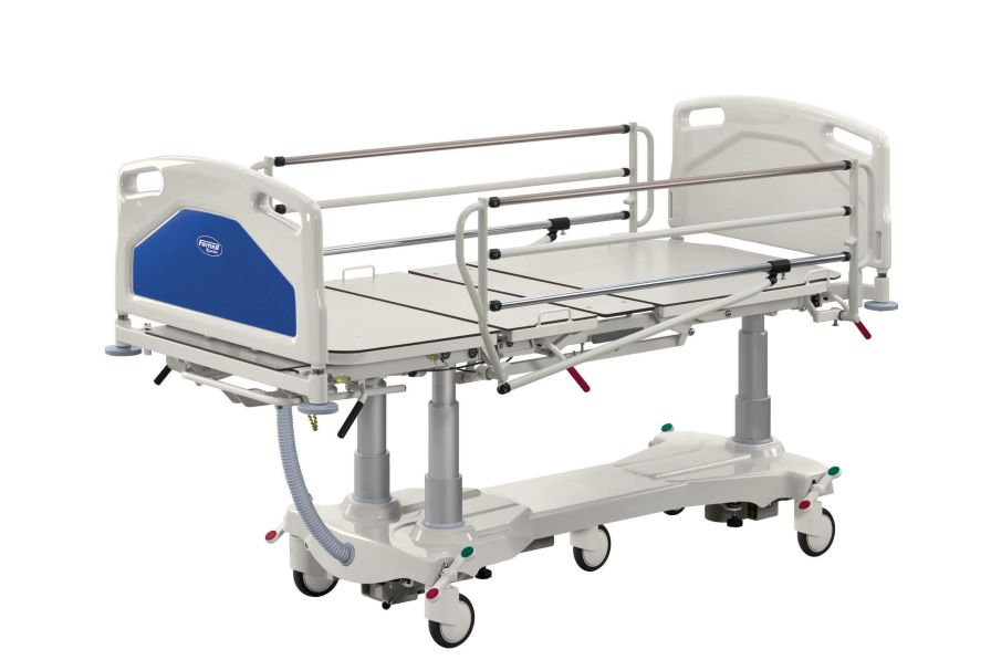 Intensive care bed / on casters / height-adjustable / 4 sections ACENS+ Famed ?ywiec sp. z o.o.