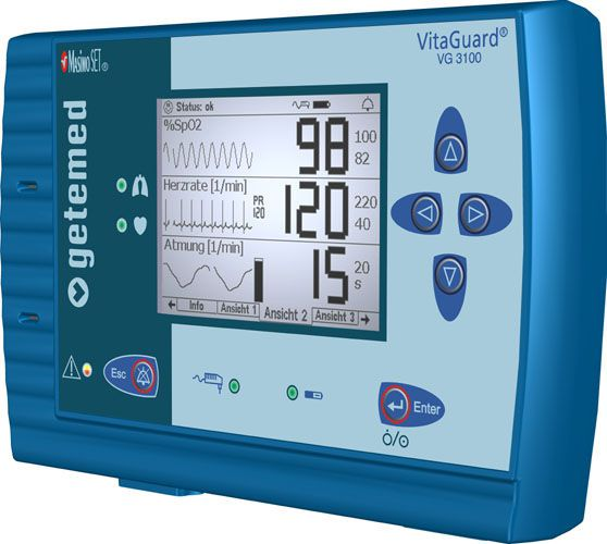 Vital signs monitor VitaGuard® VG 3100 GETEMED Medizin- und Informationstechnik
