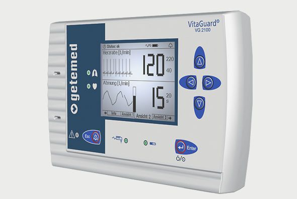 Vital signs monitor VitaGuard® VG 2100 GETEMED Medizin- und Informationstechnik