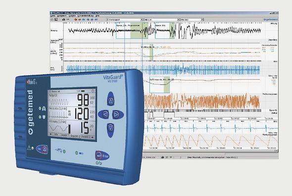 Vital sign telemonitoring software VitaWin® GETEMED Medizin- und Informationstechnik