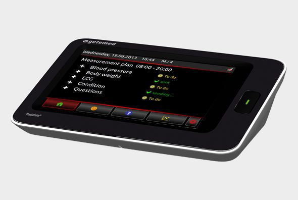 Vital sign telemonitoring system / with touchscreen PhysioGate® PG 1000 GETEMED Medizin- und Informationstechnik