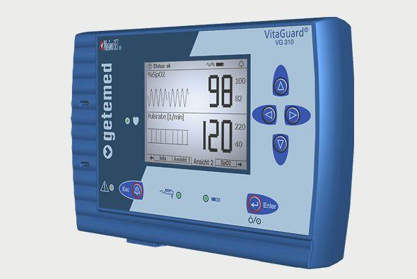 Table-top pulse oximeter / with separate sensor VitaGuard® VG 310 GETEMED Medizin- und Informationstechnik