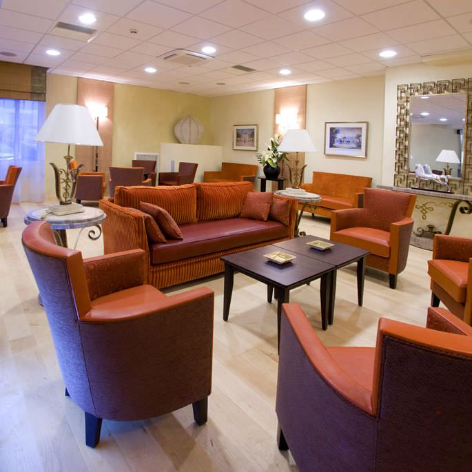 Living room furniture set for healthcare facilities COLLINET