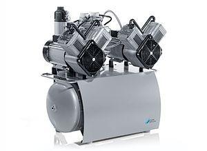 Medical compressor / for dental units / diaphragm / with air dryer Duo Tandem DÜRR DENTAL AG
