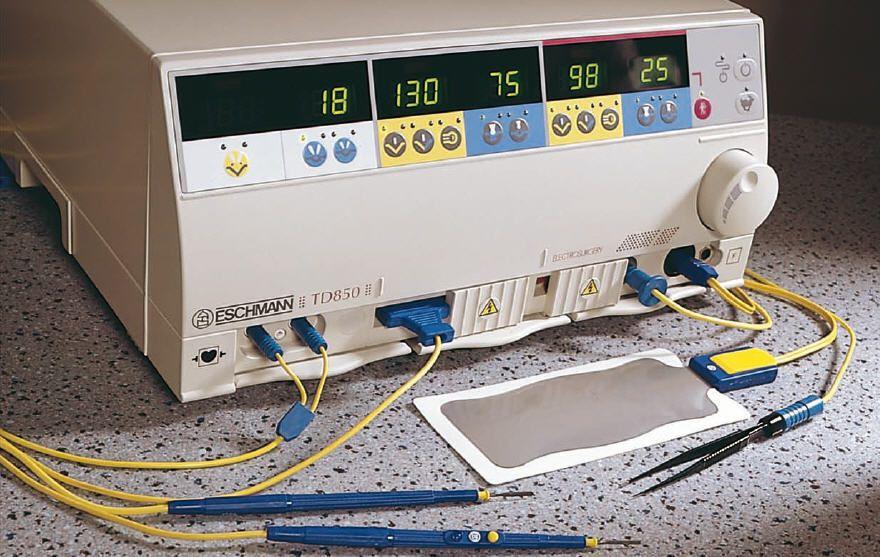 Monopolar cutting HF electrosurgical unit / bipolar coagulation / bipolar cutting / monopolar coagulation TD850 Eschmann Equipment
