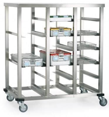 Transport trolley / for sterilization container / open-structure ER1375 ERYIGIT Medical Devices