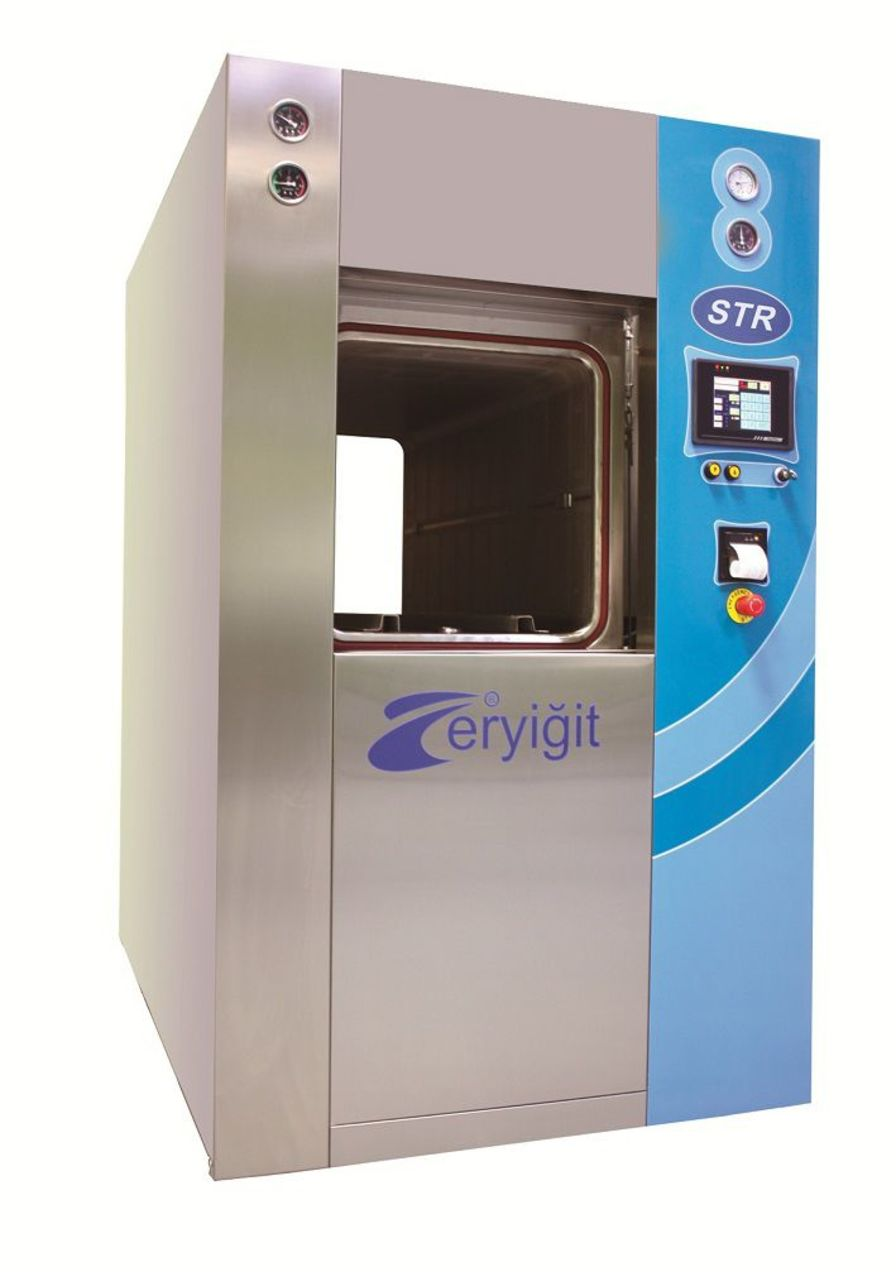 Medical autoclave / vertical / with sliding door STR 7715D ERYIGIT Medical Devices
