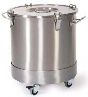 Stainless steel waste bin / on casters ER-1350, ER-1351 ERYIGIT Medical Devices