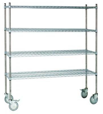 Stainless steel shelving unit / 4-shelf ER-1600 ERYIGIT Medical Devices