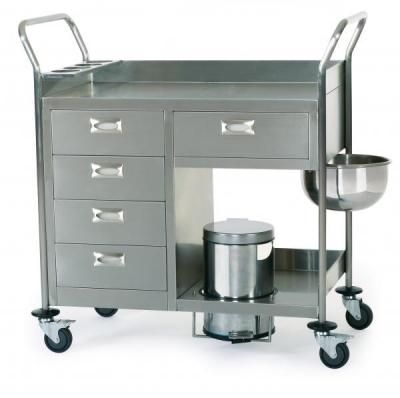 Dressing trolley / stainless steel ER-105x series ERYIGIT Medical Devices