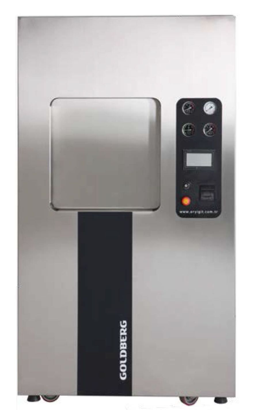 Medical autoclave / vertical / with sliding door 160 L | GoldBerg 4410S ERYIGIT Medical Devices