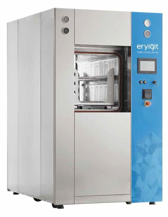 Medical autoclave / vertical / with sliding door 840 L | STR 7715S ERYIGIT Medical Devices