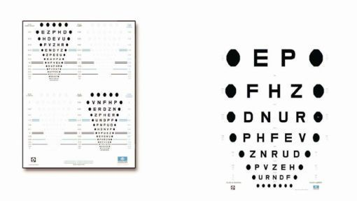 Visual chart panel ECH xxx series Essilor instruments