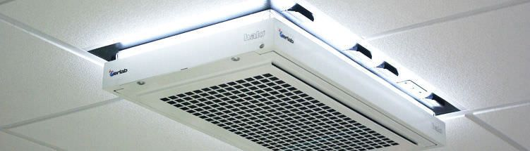 Air filtration system / ceiling-mounted Halo erlab