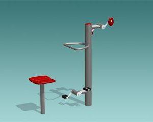 Upper limbs pedal exerciser / lower limbs / upper and lower limbs / exterior PedalGym Erlau