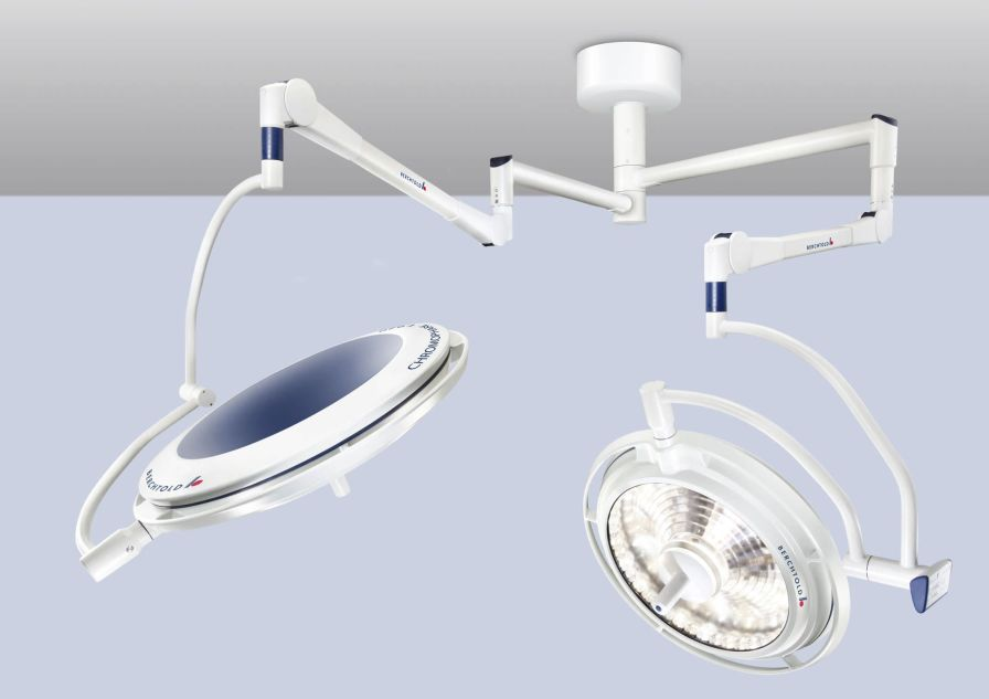 LED surgical light / ceiling-mounted / 1-arm 125 000 lux   CHROMOPHARE F 528 Berchtold