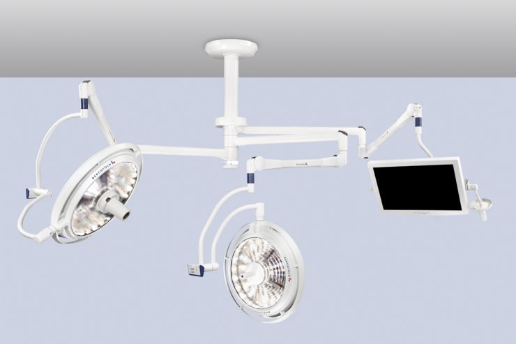Surgical monitor support arm / ceiling-mounted ChromoView Berchtold
