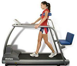 Treadmill with handrails / with underarm bars Motus TML Easytech