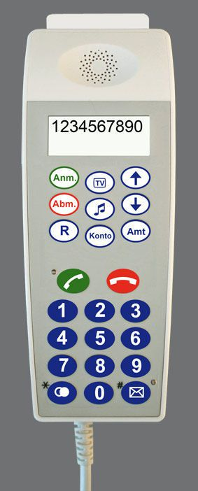 Medical handset with hygienic keypad CP 300 IP/CP 310 IP Ergophone