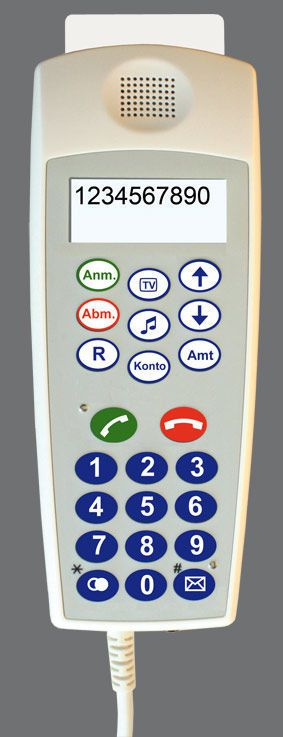 Medical handset with hygienic keypad CP 200 IP/CP 210 IP Ergophone