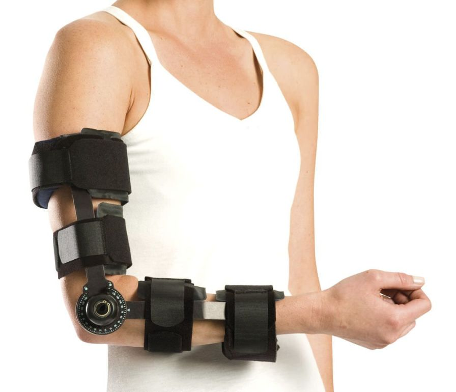 Elbow splint (orthopedic immobilization) / articulated Mayo Clinic Elbow Brace Aircast