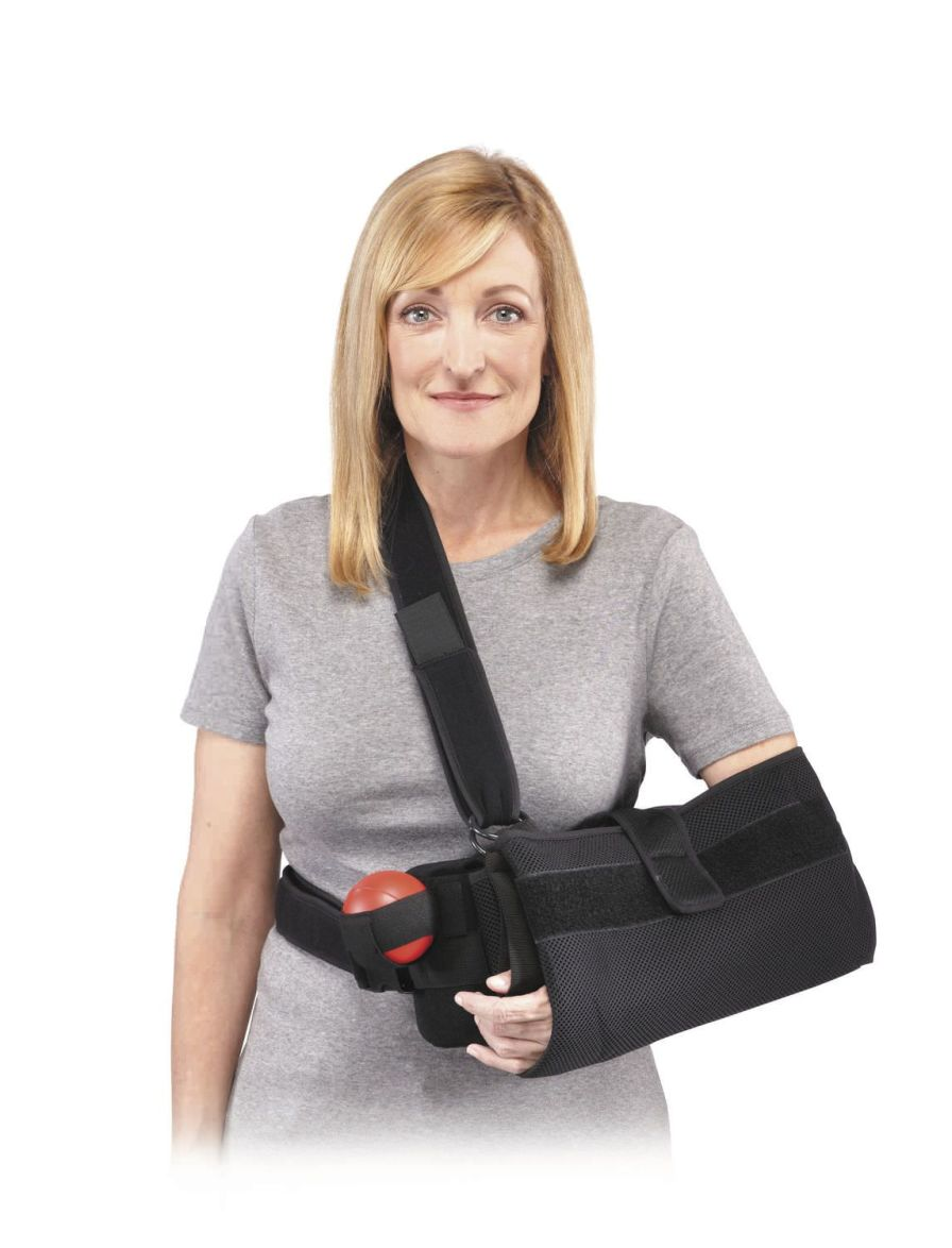 Arm sling with shoulder abduction pillow / human Quick-Fit Aircast