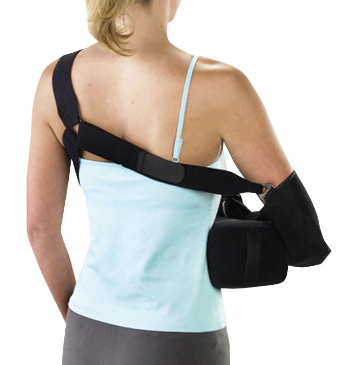 Arm sling with shoulder abduction pillow / human Aircast