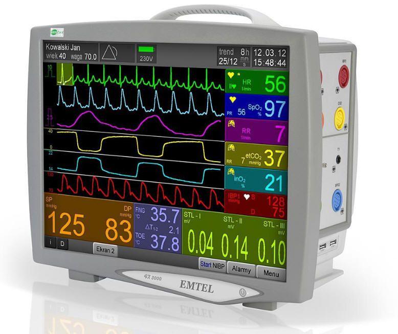 Compact multi-parameter monitor FX 3000 EMTEL
