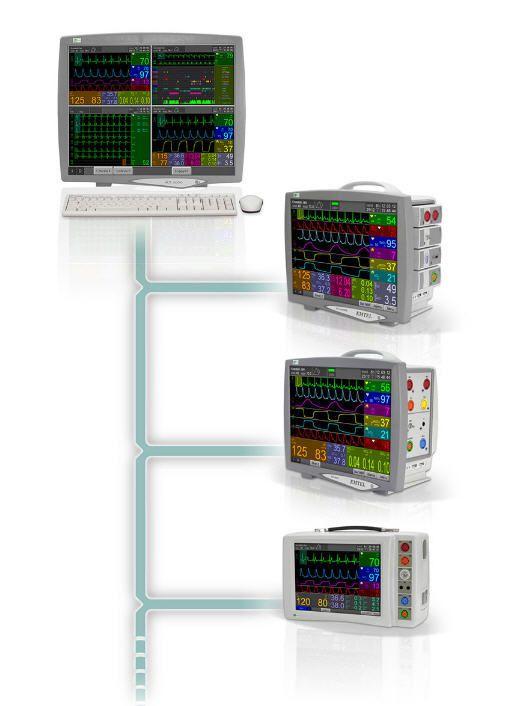 Patient central monitoring station FX 3000C EMTEL