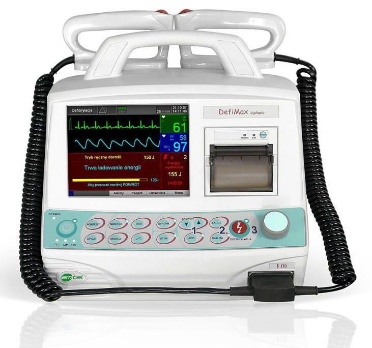 Semi-automatic external defibrillator / compact multi-parameter monitor DEFIMAX BIPHASIC EMTEL
