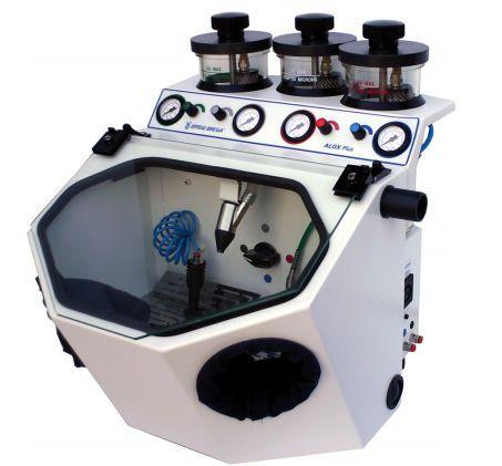 3 tanks dental laboratory sandblaster ALOX PLUS EFFEGI BREGA