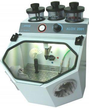 3 tanks dental laboratory sandblaster ALOX 3M+R EFFEGI BREGA