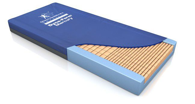 Hospital bed mattress / anti-decubitus / foam / grooved structure Dyna-Form™ Mercury Direct Healthcare Services