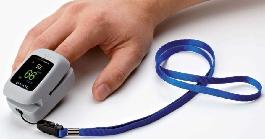 Fingertip pulse oximeter / compact OxyTrue® SF Bluepoint Medical