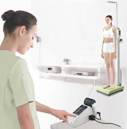 Electronic patient weighing scale / column type / with height rod / with BMI calculation BSM370 Biospace / InBody