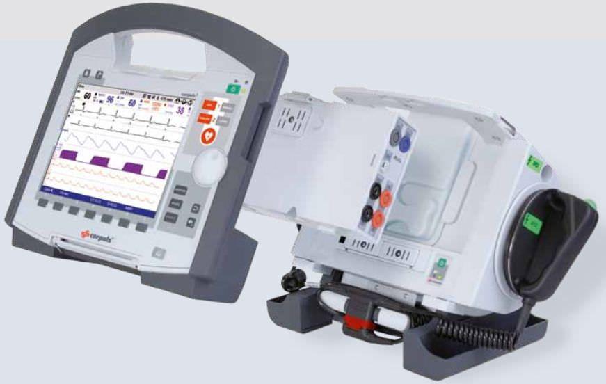 Semi-automatic external defibrillator / with modular multi-parameter monitor corpuls³ Corpuls