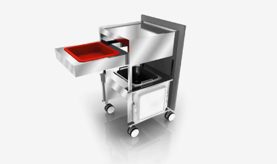 Treatment trolley / stainless steel / 2-shelf S_elect SARATOGA S.p.A.