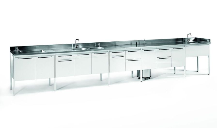Medical cabinet / dental laboratory / with sink SARATOGA S.p.A.