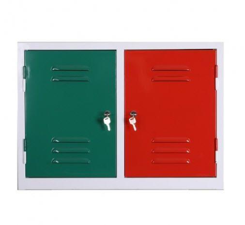 Locker room cabinet / for healthcare facilities / 2-door PS-PC01 PROJESAN