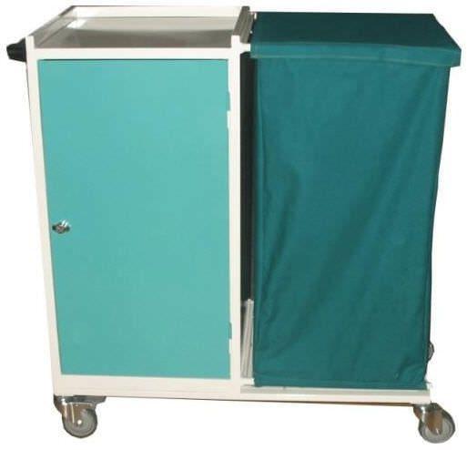 Clean linen trolley / dirty linen / with shelf / 1-bag PS-EQ09 PROJESAN