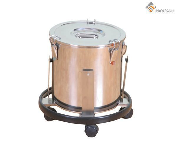 Stainless steel waste bin / on casters PS-SSMW01 PROJESAN