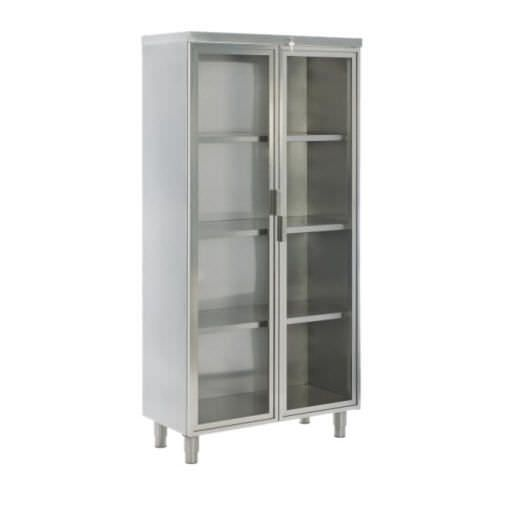 Medical cabinet / for healthcare facilities / with shelf / stainless steel PS-SSC01 PROJESAN