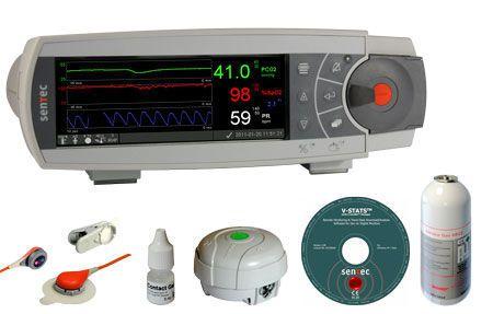 Transcutaneous pressure monitor / carbon dioxide / with SpO2 SDMS SenTec AG