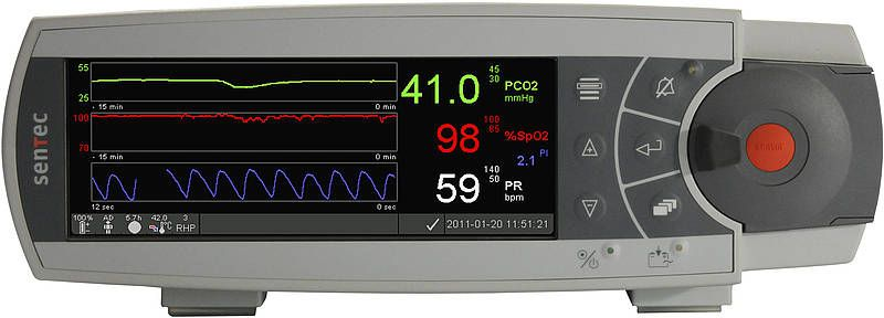 Transcutaneous pressure monitor / carbon dioxide / with SpO2 SDM SenTec AG