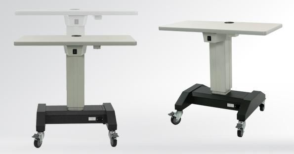Electric ophthalmic instrument table / on casters / height-adjustable ATLAS H-BASE S4Optiks