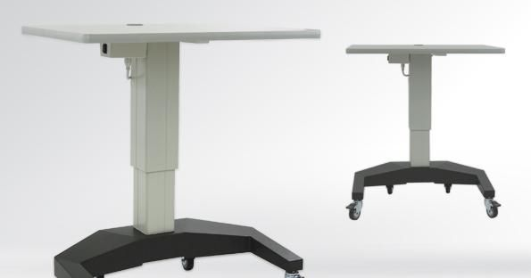 Electric ophthalmic instrument table / on casters / height-adjustable ATLAS U-BASE S4Optiks