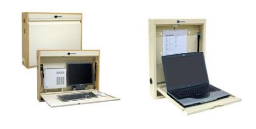 Medical computer workstation / wall-mounted / recessed LEGACY WALL Scott-Clark Medical