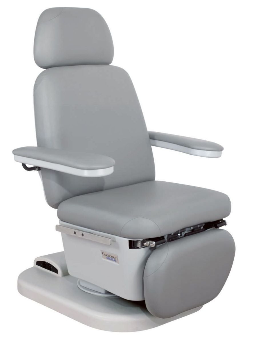 Medical examination chair / electrical / height-adjustable / 3-section 300 series Oakworks Med
