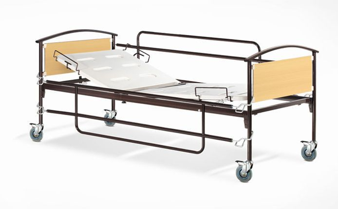 Homecare bed / on casters / 2 sections Psiliakos Leonidas